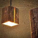 Almleuchten H5 Altholz Hängeleuchte mit Lichtschlitz / faszinierende Holzlampe