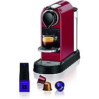Krups Nespresso XN7415 New CitiZ Kaffeekapselmaschine (1260 Watt, 19 bar Pumpendruck, Wassertankkapazität: 1 Liter) Rot…