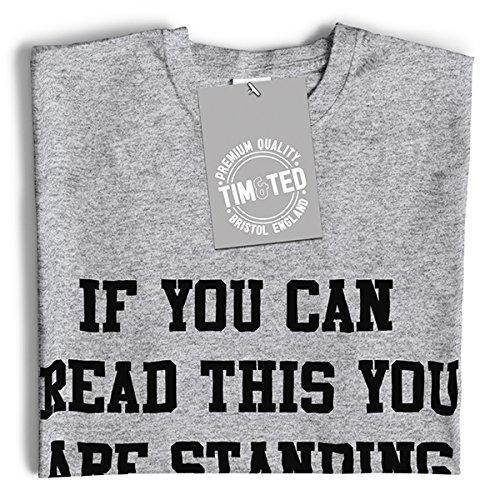 Wenn Sie dies lesen können Sie stehen zu nah lustigem Slogan Mittlere Langarmshirt Brown