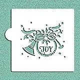 Joy corno francese Cookie and Craft stencil CM073by designer Stencils