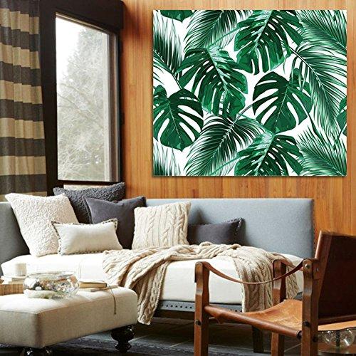 QCWN tropischen Dschungel Tapisserie Banana Palm Tree Leaf Pflanzen Kaktus und Flamingo Motto Print Wanddekoration für Schlafzimmer Wohnzimmer Wohnheim Home Decor Art, Polyester, 2, 78Wx59L