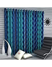 Home Sizzler 4 Piece Eyelet Polyester Window Curtain Set - 5ft