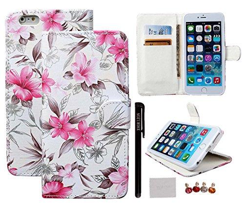 """Schutzhülle für iPhone 6/6S plus (5.5""""), xhorizon [Stand Funktion] [Brieftasche Funktion] [Magnetverschluss] Für Apple iPhone 6 Plus (5.5"""") Kontrastfarbe Leder Dünn Brieftasche TelefonCase Hülle mit  #2"""