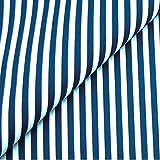 0,5m Streifen-Stoff 5mm marineblau/ weiß Meterware 100% Baumwolle