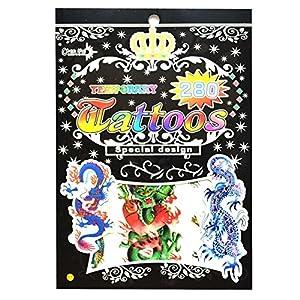 Gifts 4 All Occasions Limited SHATCHI-1007 No. 11 - Bolsa de tatuajes temporales para fiestas, impermeable, no tóxica, pegatina para niños, multicolor