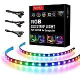 Speclux RGB Led Strip RGBIC PC Light Strips (Rgb Sync Rainbow - 3-pin sin controlador) [Clase de eficiencia energética A++]