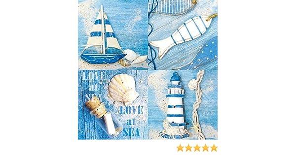 Serviette Love at Sea 5 St/ück