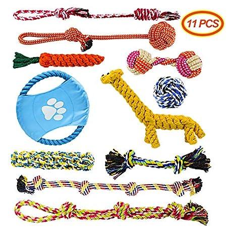 Docatgo Hundespielzeug Hund Zubehör Seil Set 11pcs, Hergestellt Aus NatüRlicher Baumwolle Ungiftig Und Geruchlos…