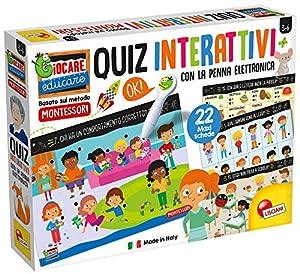 Lisciani Giochi - Montessori bolígrafo electrónico Tarjetas Gigantes Juego para niños, 76727