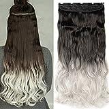 Extension a Clip Cheveux Extension Cheveux Monobande [1 Pièce 5 Clips] Effet Naturel...