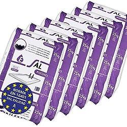 Pack de 150 Kg (6 Sacos de 25 kg.) ENISAL Sal Especial Piscinas - Cumple con la Norma Europea EN 16401/A (Sal Calidad A para Piscinas de electrólisis Salina)