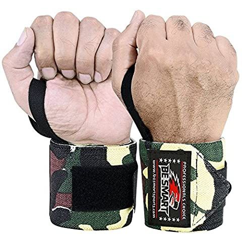 Be Smart - Weight Lifting - Wrist Wraps - Bandage - Hand Support - GYM Straps - Cotton Grip Brace- Cross fit - *Professional Wrist Wraps Available In 18 Colors* (Green