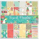 Toga Tropical Paradise-Set di 6Fogli Produzione, Carta, Multicolore, 31x 32x 0,5cm
