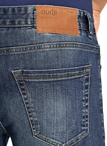 oodji Ultra Herren Jeans Skinny Blau (7500W)