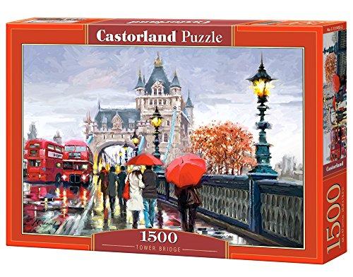 Castorland Tower Bridge 1500 pcs Puzzle - Rompecabezas (Puzzle Rompecabezas, Ciudad, Niños y Adultos, Niño/niña, 9 año(s), Interior)