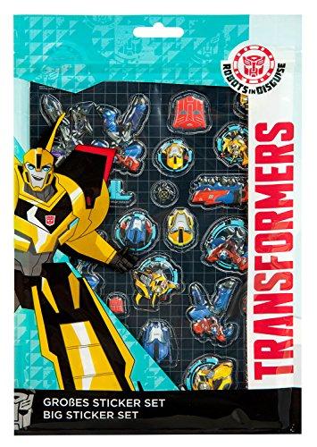 Undercover TFUV7293 Kindergartentasche, Transformers, ca. 21 x 22 x 8 cm Großes Sticker Set