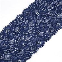 Cinta de encaje floral elástica de tul de 15 cm de ancho para manualidades, manualidades