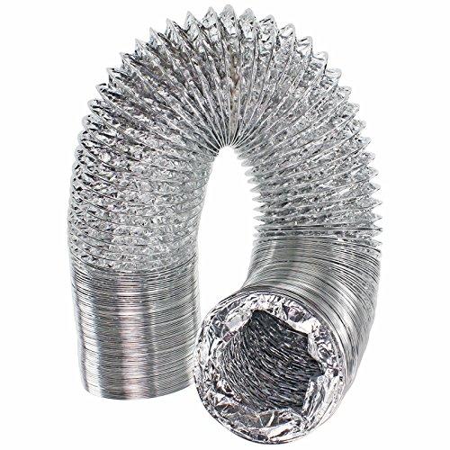 spares2go 5m Aluminium Flexible Vent Schlauch Auspuff für LG Trockner (10,2cm/100mm Durchmesser) -