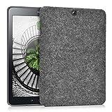 kwmobile Hardcase Custodia in tessuto compatibile con Samsung Galaxy Tab S2 9.7 - Case rigida in design Feltro grigio scuro