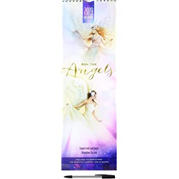2019 Ask The Angels Slim Wall Calendar with Pen Christmas Birthday ...