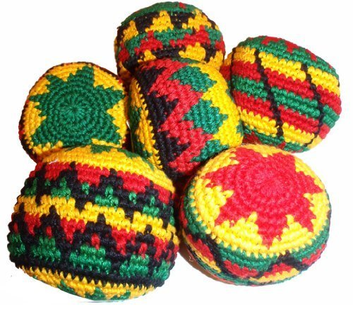 rasta-assorted-hacky-sack-footbag-quantity-1-hand-crocheted-made-in-guatemala-comes-with-tips-game-i