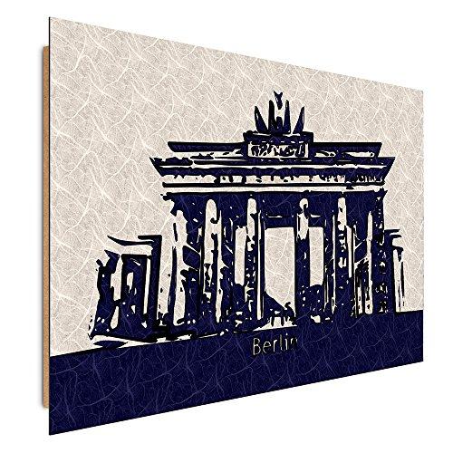 Feeby Frames, Immagine da parete, Immagine decorativa, Immagine stampata, Immagine Deco Panel, 70x100 cm, BERLINO, (3 Appartamento Porta Panel)