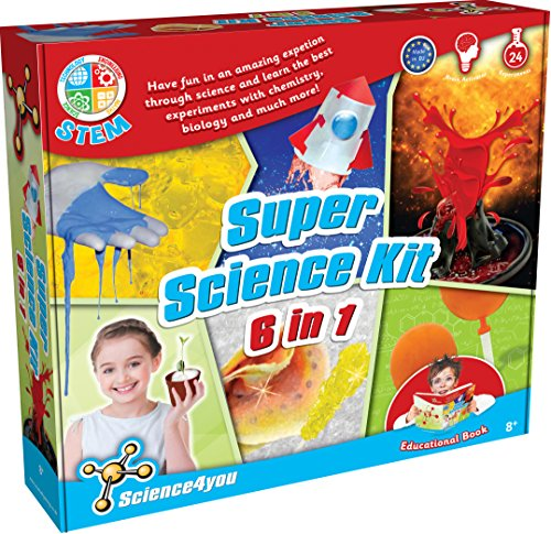 Science4you Super Science Kit Experimentierkasten, 6-in-1