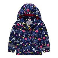 Koo-T Girls Rain Coat Jacket Hood Windbreaker Spring Summer Mac Packable Age 2 3 4 5 6 7 8 9 10 11 Years
