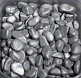 Marbles metallic 7-15mm gerundete Dekosteine 1 KG SILBER