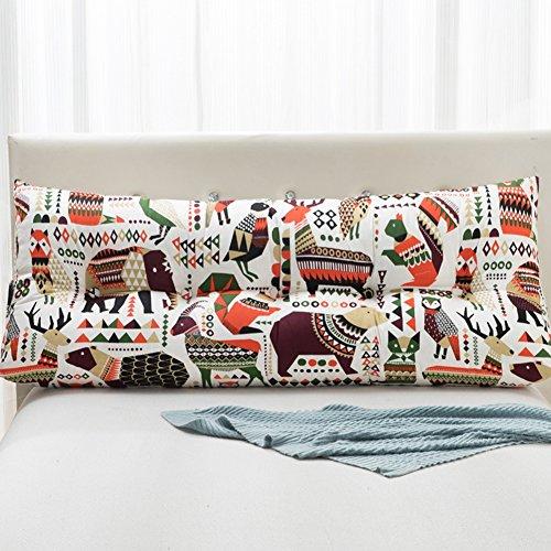 Button Kopfteil (Bedside Triangle Cushion Double Schlafsofa Großes Rückenkissen Soft Bag Bed Lendenkissen Keilkissen Lesen Rückenlehne Kopfteil Kissen, 5 Farben, 7 Größen (Color : #1, Size : 200×50×22CM))