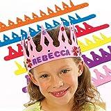 Lot de 8 Couronnes en Mousse à personnaliser - Idéal pour les costumes de Roi, Reine, Prince et Princesse