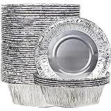 50 Stücke 13cm Einweg Quicheform Aluminiumfolie Backform Obsttorte Pastete Pfanne, Einweg Pastete Pfanne, Obsttorte Pfannen, Einweg-BBQ-Pfanne, BBQ-Teller