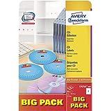 Avery Zweckform CD/DVD Labels Blanco - Etiquetas de impresora (Blanco, A4, Papel, Laser/Inyección de tinta, Permanente, Mezcl