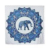 Strandtuch , Serviette Mandala Indian Beach Internet Hippie Auf Matte Yoga-Matten-Table Mat Elephant Strandtuch 145cmX145cm Chaise Camping Dekoration Fenster-Raum