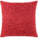 """Chenille Cushion Cover Red 22""""x22"""""""