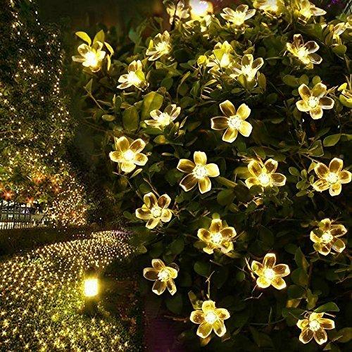 Preisvergleich Produktbild 5M 50 LED String Light Sakura Blume Add Romantische Atmosphäre Perfekte Dekoration für Patio,  Rasen,  Zaun,  Haus,  außerhalb,  Einkaufszentrum,  Urlaub & Festival Feier IP44 Wasserdicht Warmweiß