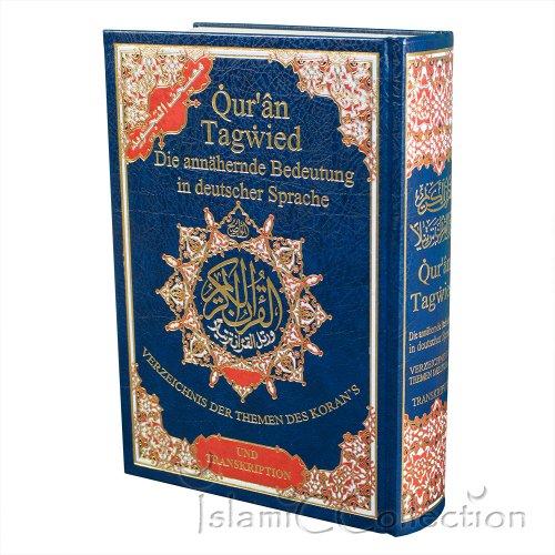 Koran Tagwied Quran - Der Heilige Koran (Interpretation : Deutsch) - 24x18cm - 31-1005 [Gebundene Ausgabe]