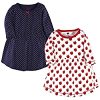 فساتين هدسون المصنوعة من القطن للرضع والاطفال من الفتيات  Apple Long-sleeve 2-pack 6-9 Months