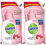 Dettol Liquid Handwash Dispenser Bottle Pump - Skincare Moisturizing Hand Wash (Buy 1 Get 1 Free - 750ml each) | Antibacteria