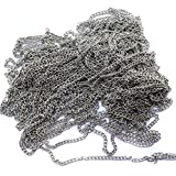 #5: Silk Threads Jewellery Making Chain Silver 5 Mtr