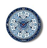 Kolorobia Buds Glass Clock (Blue)