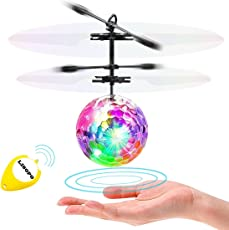 LISOPO RC Fliegender Ball ,Kinder Judgen Mini Flugzeug Hubschruber mit LED Leuchtung Kinder Fliegen RC Kugel LED Blitzen Licht Flugzeug Hubchrauber Infrarot-Induktions RC Spielzeug