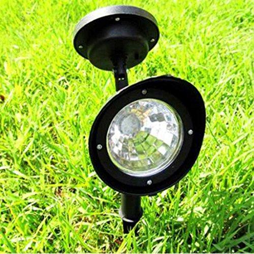 HuntGold 3 LED Weiß Solar Punkt Lampe Weg Licht für Landschafts Yard Garten Rasen (1Stk) (Landschaft-garten-weg-licht)
