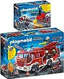PLAYMOBIL® City Action 2er Set 9464 9468 Feuerwehr-Rüstfahrzeug + Feuerwehrmänner mit Löschpumpe