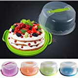 Generic Green : Locking Portable Cake Caddy Box Container Cupcake Carrier Storage 3 Colors