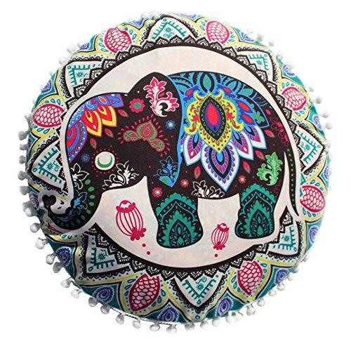 serliy Indische Mandala Kissen Runde Bohemian kissenbezüge kissenhüllen Spannbettlaken sofakissenbezug günstige schöne Moderne Plüsch Hohe Qualität Polsterung Baumwolle bettwäsche
