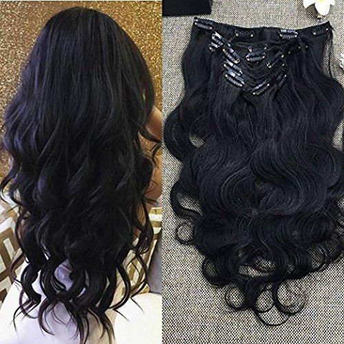 Full Shine 24 Pollice Grado 7A 100% Capelli Brasiliani Vergini Umani di Estensioni Dell'Onda Del Corpo Body Waby Black Human Hair Extension for Black Women 7Pcs 100g