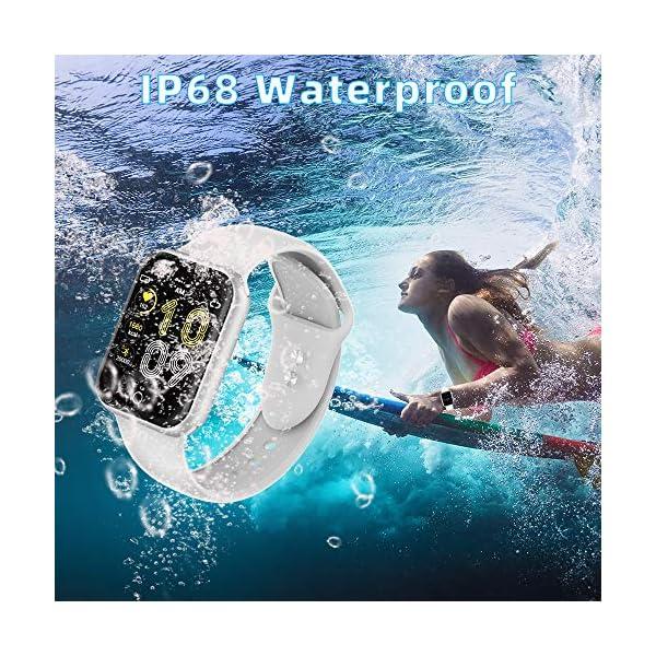 Smartwatch, KUNGIX Reloj Inteligente Impermeable IP68 Pulsera de Actividad Inteligente con Monitor de Sueño Pulsómetros… 9