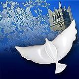 Weedee Decoración de la boda de la paloma del helio Eco que volaba el globo blanco de la paloma