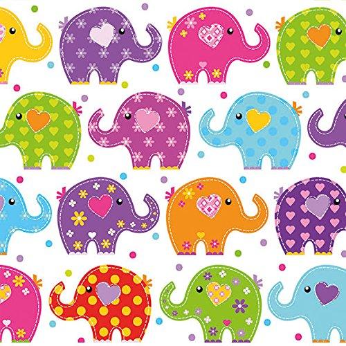 20 Servietten Kinder-Geburtstag Party Mädchen Junge Elefanten 33 x 33cm
